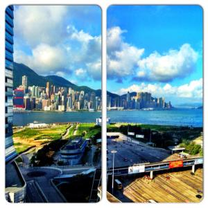 View from the W Hong Kong in Kowloon