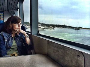 Gratuitous picture of me pensively looking at the water